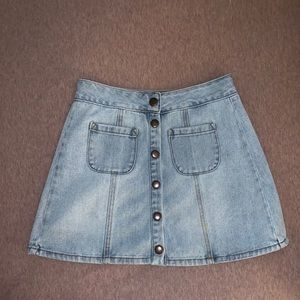Brandy Melville jean skirt with buttons